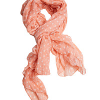 Polka Dot Finished Scarf | Shop Accessories at Wet Seal