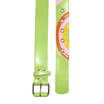 Rainbow Baby Green Patent Vinyl Belt