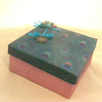 Mothers Day Mom Keepsake Memory Box recycled by earthluv on Etsy