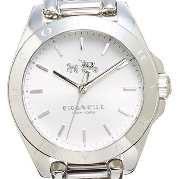 COACH 'Tristen' Logo Bezel Chain Bracelet Watch, 32mm | Nordstrom