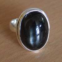 Classic Design Beautiful Black Onyx Gemstone Silver Ring,Bronze, Jewelry, Gift, Holiday,Handmade jewelry, Free Shipping