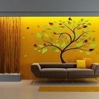 Large tree with flowing leaves Wall Decal by glasshousecouture
