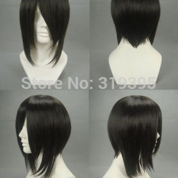 Black Butler Sebastian Michaelis Black Short Cosplay Wig