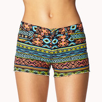 High-Wattage Tribal Print Cut Offs