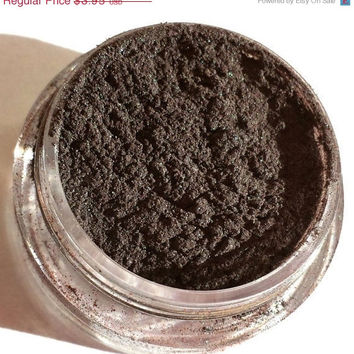 """ON SALE Mineral Eye Shadow - Smoky Brown Shimmer Eye Shadow - """"CAT'S Eye"""" - Mineral Makeup - Eyeshadow"""