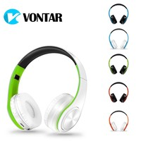 VONTAR Bass On-ear Headsets Wireless headphones Bluetooth 4.0 with microphone support TF FM Noise Cancelling For MP3 Phones