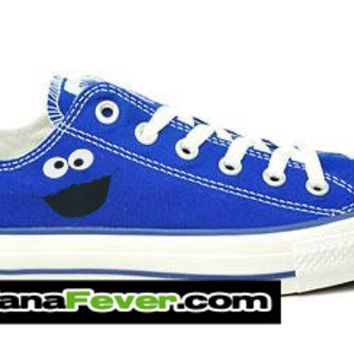 Converse Cookie Monster Graphic Royal Blue Chuck Taylor Oxford + FREE SHIPPING - by Bandana Fever