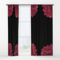 Roses are Red Window Curtains by drawingsbylam