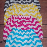 Girl's, Toddler, Baby Cotton Chevron Skirts, Zig zag Stripe skirts, Fuchsia, Blue, Yellow, Charcoal Gray, sizes 1, 2t, 3t, 4t, 5/6, 7/8