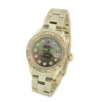 Rolex Oyster Perpetual DateJust 1980 Hologram Face Stainless Steel With Diamond Bezel