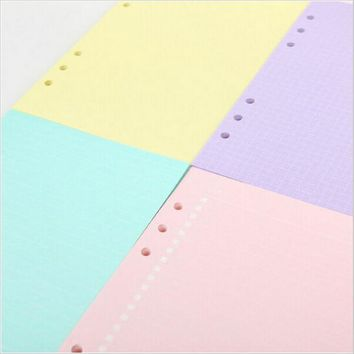 monthly/weekly/daily spiral a6 a5 a7 b5 a4 rings binder journal paper, filofax organizer filler papers spending papers