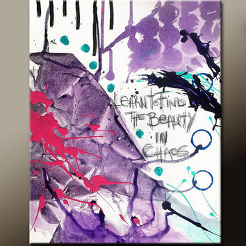 11x14 Abstract Art Print Contemporary Modern Fine Art Print Purple Aqua & Pink  - by Destiny Womack  - dWo - Learn to Find the Beauty . . .
