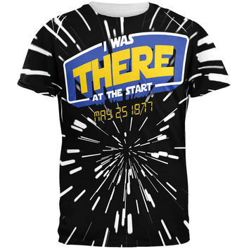 There At The Start Hyper Space All Over Adult T-Shirt