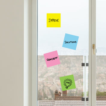 Colored Sticky Note Dry Erase wall decals