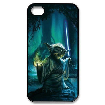 Star Wars Yoda Artistic Painting Skin Case for iphone 4 4s 5 5s 5c 6 6s 6plus 6s plus hwd