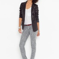 Detour Reversible Skinny Jeans - Black Leopard in  Clothes at Nasty Gal
