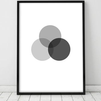 Geometric Art Minimalist Abstract Art Print Home Decor Giclee Screenprint Gallery Wall Printable Large Kunst Graphics Dots Circle Druck