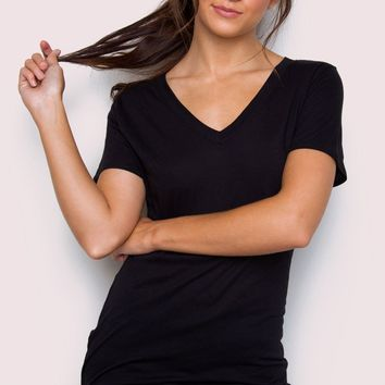 Jenna Basic Top - Black