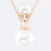 Hourglass Pearl Necklace