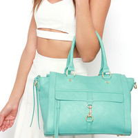 Spread Your Wings Turquoise Handbag