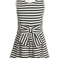 Girl's kate spade new york kids 'jillian' stripe bow dress