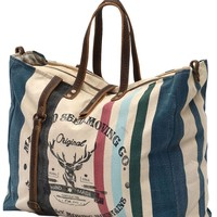 Myra Bag Color Strapped Up-cycled Canvas Weekender S-0777
