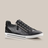 Zip Up sneaker in Damier embossed and suede calf - Louis Vuitton  - LOUISVUITTON.COM