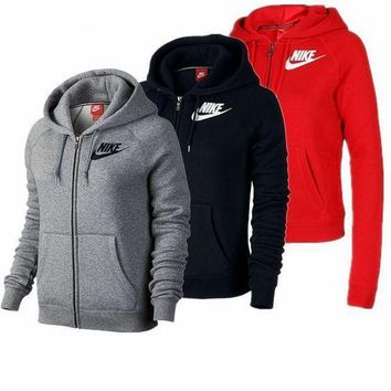 PEAPON Nike Black Zip Up Hoodie Jacket Sweater Sweatshirts