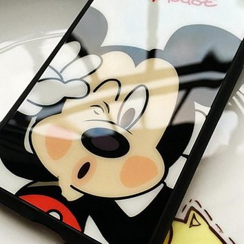 Clespruce Cartoon Lovers Mickey Mouse Minnie cover soft silicon Phone case For iPhone X 8 8plus 7 6 6s plus 5s SE funda Coque