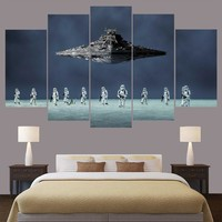 Star Wars Stormtroopers Star Destroyer Five Piece Canvas Wall Art Home Decor