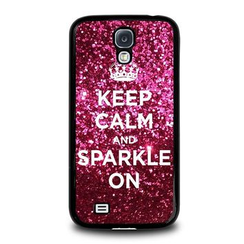 KEEP CALM AND SPARKLE ON Samsung Galaxy S4 Case Cover