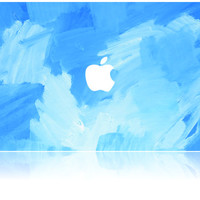 Macbook Case | Oil Painting Collection - Sky Blue Paint