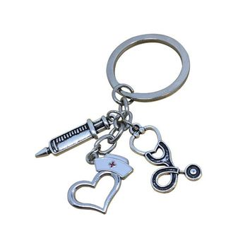Keychain Hot Sale Heart Hats Syringe [1562497286198]