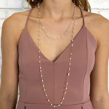 Take A Bow Layered Necklace in Gold