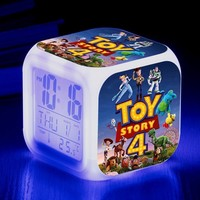 Toy Story 4 Glowing LED Color Changing Alarm Clock