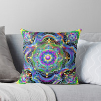 "SOLD! Thank You! ""Mandala Universe Psychedelic "" Throw Pillows by BluedarkArt 
