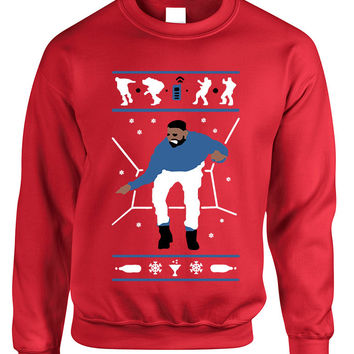Adult Sweatshirt Hotline Bling Blue Ugly Xmas Gift Holiday Hotline Top