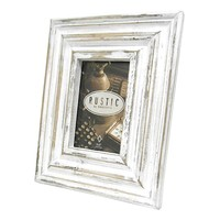 Concepts in Time 4'' x 6'' Distressed Frame (White)