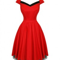Red With Black Strip | DRESS