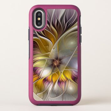 Abstract Colorful Fantasy Flower Modern Fractal OtterBox Symmetry iPhone X Case