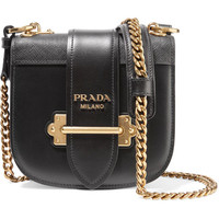 Prada - Pionnière textured-leather trimmed leather shoulder bag