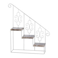White Stepped Triple Plant Stand