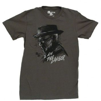 Breaking Bad Heisenberg I Am The Danger Adult Gray T-shirt - Breaking Bad - | TV Store Online
