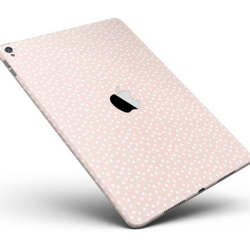 "The Coral and White Micro Polka Dots Full Body Skin for the iPad Pro (12.9"" or 9.7"" available)"