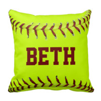 Personalized Softball American MoJo Pillows