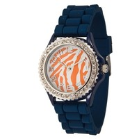 Blue/Orange animal print watch