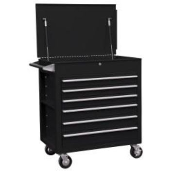 SUNEX Premium Full Drawer Service Cart - Matte Black SUN8057MB