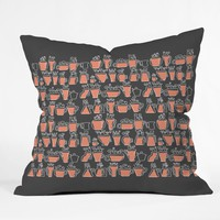 Raven Jumpo Drinking Mugs Throw Pillow