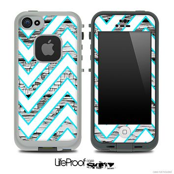 Large Chevron and White Wood Skin for the iPhone 5 or 4/4s LifeProof Case