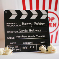 $30.00 Movie Birthday Party Invitation (20 invitations) by swankypress on Etsy